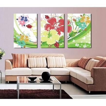 Tranh ghép bộ 3 bức nghệ thuật DH1802A (kích thước 120x60cm)