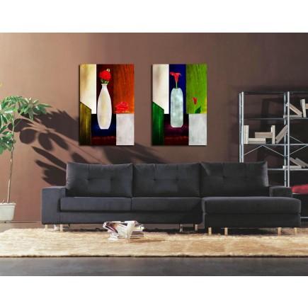 Tranh ghép bộ 2 bức nghệ thuật DH1637A (kích thước 60x60cm)
