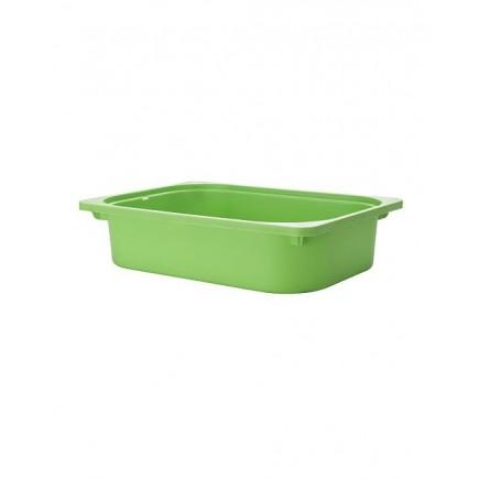 Thùng nhựa đựng đồ chơi IKEA TROFAST màu xanh cao 10cm