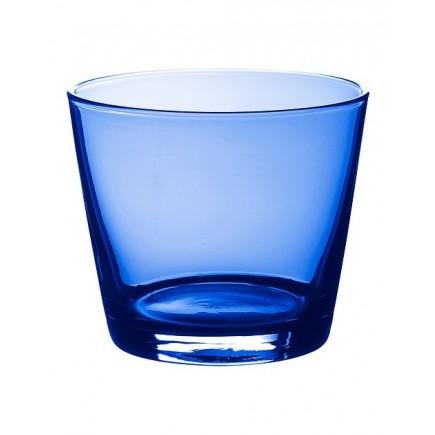 Cốc thủy tinh thấp IKEA DIOD màu xanh dương