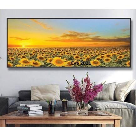 Tranh  Canvas  treo tường phong cảnh hoa hướng dương CVS2021