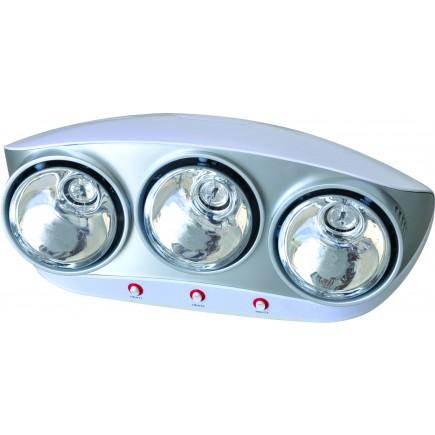 Đèn sưởi nhà tắm Kottmann 3 bóng bạc