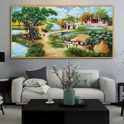 Tranh  Canvas  treo tường phong cảnh CVS3023