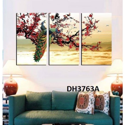 Tranh treo tường nghệ thuật Chim Công DH3763A
