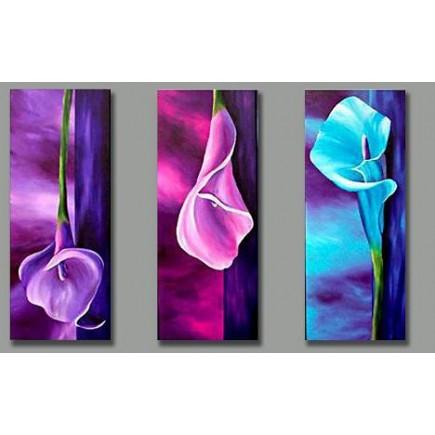 Bộ tranh sơn dầu hoa Tulip SD167 (kích thước 90x70cm)