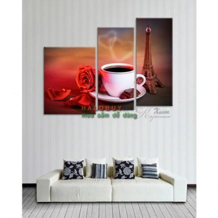 Tranh nghệ thuật treo tường trang trí quán coffe DH803A (kích thước 120x80cm)