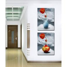 Tranh ghép bộ 2 bức hoa nghệ thuật DH1351A (kích thước 120x30cm)