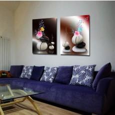 Tranh ghép bộ 2 bức nghệ thuật DH1525A (kích thước 60x60cm)