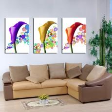 Tranh ghép bộ 3 bức nghệ thuật DH1364A (kích thước 120x60cm)