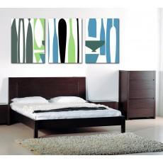 Tranh ghép bộ 3 bức nghệ thuật DH1839A (kích thước 120x60cm)