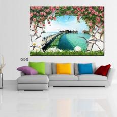 Tranh  Canvas  treo tường phong cảnh CVS03