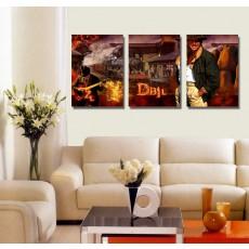 Tranh ghép bộ 3 bức nghệ thuật DH1540A (kích thước 120x60cm)