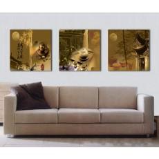 Tranh ghép bộ 3 bức nghệ thuật DH1392A (kích thước 120x40cm)