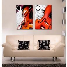 Tranh ghép bộ 2 bức nghệ thuật DH1574A (kích thước 60x60cm)