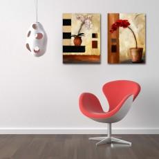 Tranh ghép bộ 2 bức nghệ thuật DH1661A (kích thước 60x60cm)