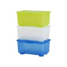 Bộ 3 hộp nhựa có nắp IKEA GLIS