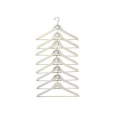 Móc áo gỗ IKEA BUMERANG (trắng) - bộ 8 chiếc