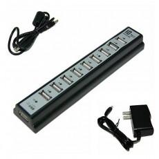 Bộ chia USB2.0 ra 10 cổng (Có adapter đi kèm)