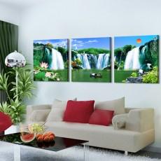 Tranh đồng hồ, tranh treo tường 3 bức nghệ thuật NT200