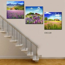 Tranh gương 3 bức phong cảnh  MC128