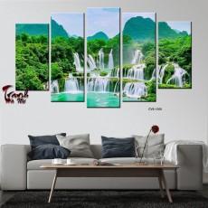 Tranh Canvas, tranh treo tường 5 bức phong cảnh CVS1200
