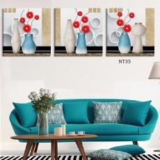 Tranh treo tường 3 bức nghệ thuật NT35