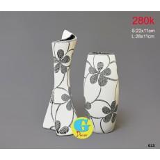 Bộ lọ hoa gốm trang trí G13