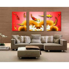 Tranh ghép bộ 3 bức nghệ thuật DH1488A (kích thước 120x60cm)