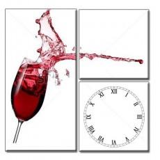 Tranh đòng hồ Rượu Vang đỏ DH516A (kích thước 60x60cm)