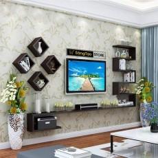 Kệ gỗ trang trí phòng khách KG158