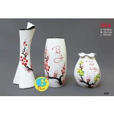Bộ lọ hoa gốm trang trí G18