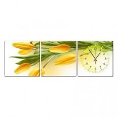 Tranh đồng hồ bộ 3 tấm DH01A