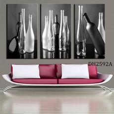 Tranh bộ 3 bức nghệ thuật chai lọ DH2592A