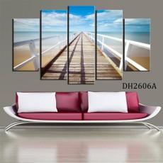 Tranh ghép bộ 5 bức phong cảnh Biển DH2606A