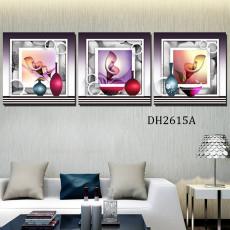 Tranh treo tường 3 bức nghệ thuật DH2615A