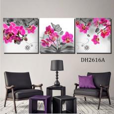 Tranh treo tường 3 bức nghệ thuật hoa lan DH2616A