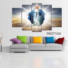 Tranh ghép bộ phong cảnh 5 bức đức mẹ DH2714A
