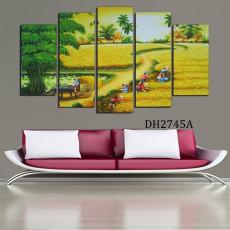 Tranh ghép bộ phong cảnh 5 bức DH2745A