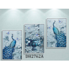 Tranh treo tường nghệ thuật Chim Công DH2762A