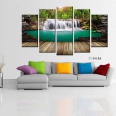 Tranh ghép bộ nghệ thuât 5 bức phong cảnh DH2424A