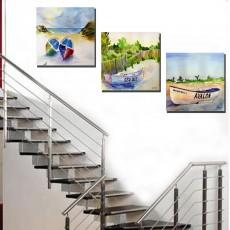 Tranh treo tường 3 bức phong cảnh nghệ thuật DH3187A