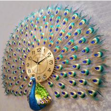 Đồng hồ trang trí chim Công xòe DHS306