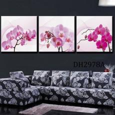 Tranh treo tường 3 bức nghệ thuật hoa lan DH2978A