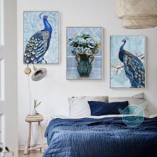 Tranh treo tường nghệ thuật Chim Công DH3001A