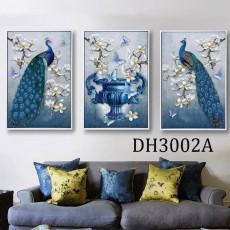 Tranh treo tường nghệ thuật Chim Công DH3002A
