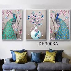 Tranh treo tường nghệ thuật Chim Công DH3003A