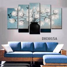 Tranh nghệ thuật 5 bức bình hoa DH3015A