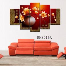 Tranh nghệ thuật 5 bức hoa mộc lan DH3016A