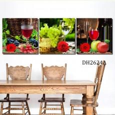 Tranh gương 3 bức tranh nhà bếp MC57