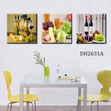 Tranh gương 3 bức tranh nhà bếp MC104